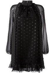 Giamba Polka Dot Loose Dress Black