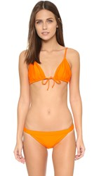 Zero Maria Cornejo Cese Bikini Top Orange