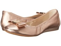 Cole Haan Tali Bow Ballet Rose Gold Metallic Women's Slip On Shoes