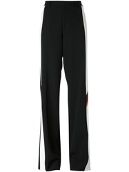 Dsquared2 White Panel Palazzo Trousers Black