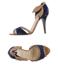 O Jour Sandals Dark Blue