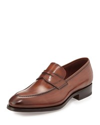 Magnanni Almond Toe Penny Loafer Brown