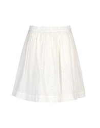 George J. Love Knee Length Skirts White