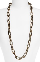 Women's L. Erickson 'Farrah' Link Necklace Onyx