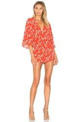 Eight Sixty In Flight Romper Red