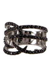 Charlene K Black Cz Ring Metallic