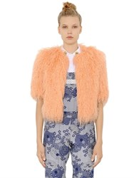 Shrimps Lily Long Faux Shearling Short Fur Coat