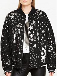 Just Cavalli Star Print Bomber Jacket Black