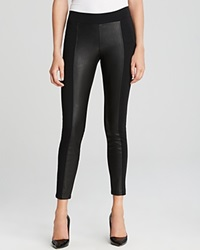 Guess Leggings Ponte And Faux Leather