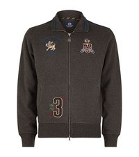 La Martina Logo Embroidered Sweatshirt Male Grey