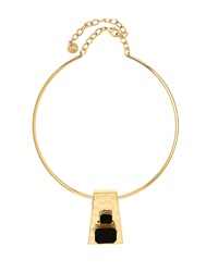 Rj Graziano R.J. Graziano Geometric Golden Collar Necklace Jet Black