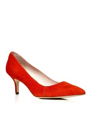Moda In Pelle Cambria Mid Heel Pointed Court Shoes Red