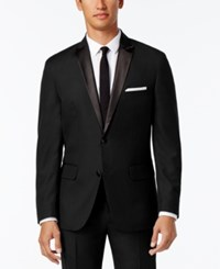 Inc International Concepts Men's Customizable Tuxedo Blazer Only At Macy's Black Regular Peak Lapel Blazer