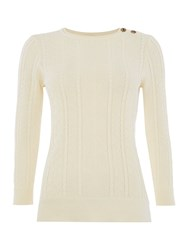 Lauren Ralph Lauren Delany 3 4 Sleeve Crew Neck Jumper Cream