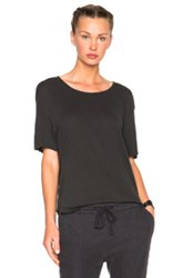 James Perse Relaxed Linen Jersey Tee In Gray
