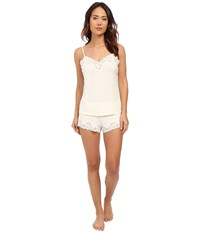 Lauren Ralph Lauren Knit Cami Top Pajama Set Ivory Women's Pajama Sets White