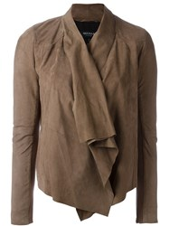 Muubaa Drape Front Jacket Brown