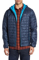 Patagonia Men's 'Nano Puff' Water Resistant Jacket Navy Blue