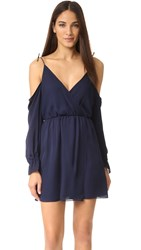 Haute Hippie Cold Shoulder Mini Dress Midnight