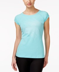 Ideology Metallic Graphic T Shirt Only At Macy's Crystal Mist