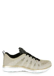 Athletic Propulsion Labs Techloom Pro Metallic Knitted Trainers Gold