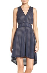 Ali And Jay Women's Shadow Stripe Fit Flare Dress