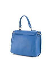 Love Moschino Flap Closure Crossbody Bag Blue