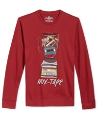 American Rag Men's Mix Tape Graphic Print Sweatshirt Only At Macy's Dark Scarlet