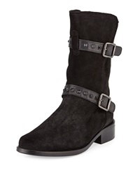 Sesto Meucci Shena Studded Suede Bootie Black Blac