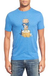 Original Penguin 'Tipsy The Owl' Trim Fit Graphic Crewneck T Shirt Snorkel Blue