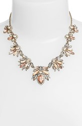 Women's Marchesa Jeweled Cluster Frontal Necklace Rose