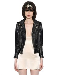 Saint Laurent Vintage Nappa Leather Biker Jacket