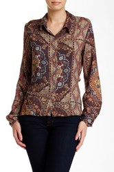 Lez A Lez Printed Cutout Shirt Multi