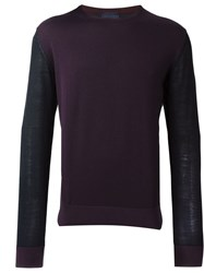 Lanvin Contrasting Sleeve Sweater Pink And Purple