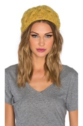 Free People Snow Bird Beret Yellow