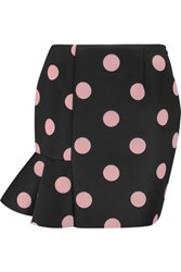 Vivetta Polka Dot Scuba Jersey Mini Skirt Black