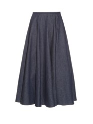 Emilia Wickstead Eleanor Denim Midi Skirt