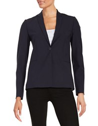 Elie Tahari Darcy One Button Blazer Navy