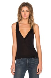 Frame Denim Le Henley Tank Black