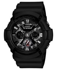 G Shock Men's Analog Digital Black Resin Strap Watch 55X53mm Ga201 1A
