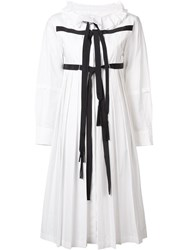 Tsumori Chisato Strap Pleated Dress White