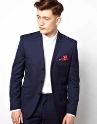 Vito Suit Jacket With 3 Buttons Navy