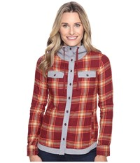 Marmot Reagan Flannel Long Sleeve Madder Red Women's Long Sleeve Button Up Olive