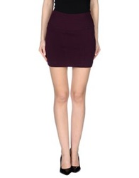 Gaudi' Mini Skirts Deep Purple