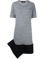 Dsquared2 Angular Skirt T Shirt Dress Grey