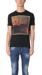 Dsquared Palm Tree Road Trip Tee Black