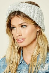 Forever 21 Sequined Marled Knit Headwrap Grey