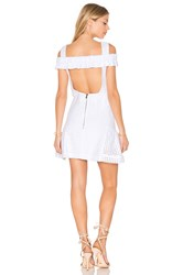 By Johnny Marthe Lace Elastic Frill Mini Dress White