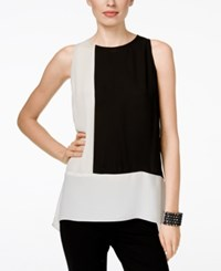 Inc International Concepts High Low Colorblocked Shell Only At Macy's Washed White