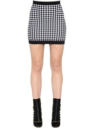 Balmain Diamond Jacquard Knit Mini Skirt